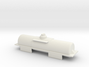 N6.5 tanker body to fit Rokuhan shorty wagon in White Natural Versatile Plastic