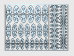 Silent Order : Vehicle Insignia pack in Smooth Fine Detail Plastic
