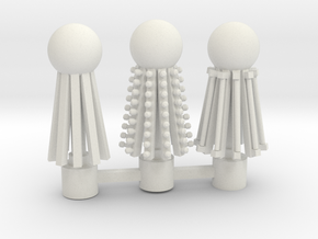 three toppers in White Natural Versatile Plastic