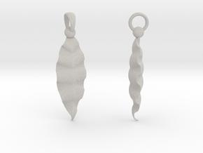 Fractal Leaves Earrings in Natural Full Color Sandstone