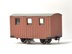 4x 009 FR Quarrymen's carriages Type 3 in Smooth Fine Detail Plastic