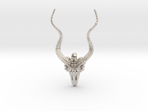 Kudu Gifts - Pendant - Vessels in Rhodium Plated Brass