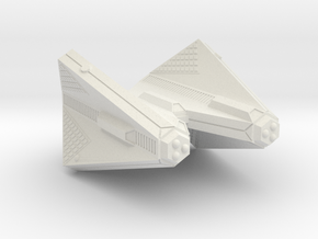 3788 Scale Tholian Heavy Command Cruiser (CCH) SRZ in White Natural Versatile Plastic