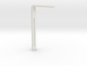 Leroy Jones Box Maker L Bracket Slotted in White Natural Versatile Plastic