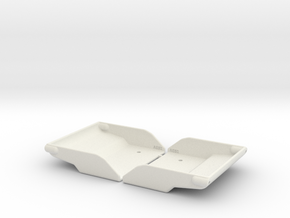 RC8B3.1 Wing Splitter, low (2pcs) in White Natural Versatile Plastic