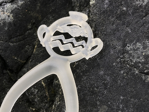 Aquarius - Hair Pin - Astrology in Smoothest Fine Detail Plastic