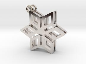 2018 Snowflake Earrings in Platinum