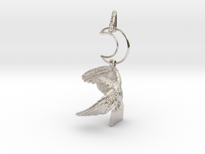 Owl Familiar - Pendant - West Coast Witch in Rhodium Plated Brass