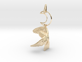 Owl Familiar - Pendant - West Coast Witch in 14K Yellow Gold