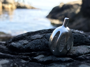 Orca Relief - Pendant - Orphic Eggs in Natural Silver