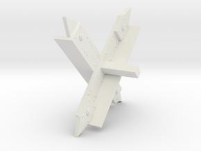 Tank Trap Modular in White Natural Versatile Plastic