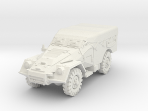 BTR 40 (covered) scale 1/87 in White Natural Versatile Plastic