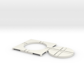 T-65-wagon-turntable-48d-75-corners-flat-1a in White Natural Versatile Plastic