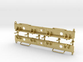 NS kolenwagen GTM bufferbalken met kopklepsluiting in Natural Brass