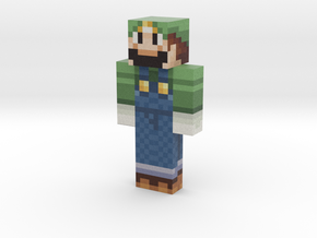 mario | Minecraft toy in Natural Full Color Sandstone