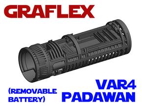 Graflex Padawan Var4 - Lightsaber Chassis  in White Natural Versatile Plastic