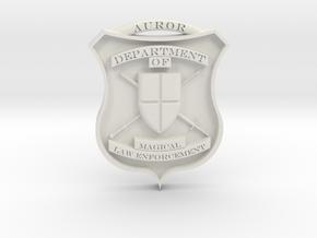Auror Badge in White Natural Versatile Plastic