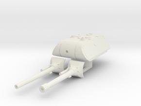 E 100 maus turret (150mm and 128mm) scale 1/56 in White Natural Versatile Plastic