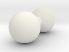 6mm Post in White Natural Versatile Plastic