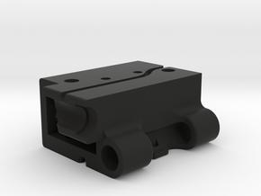 GoPro Audio Adapter Case Style #1 v2 in Black Natural Versatile Plastic