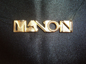 Manon Pendant - Name Necklace in Polished Bronzed Silver Steel
