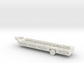 """1/200 Scale """"Queen Mary"""" Aircraft Recovery Trailer in White Natural Versatile Plastic"""
