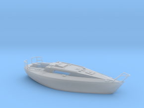 HObat31 - Sailboat in Smooth Fine Detail Plastic
