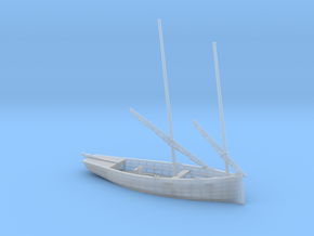 HObat50 - Old fishing boat in Smooth Fine Detail Plastic