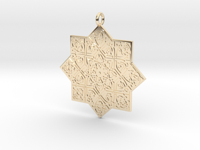 Celtic Knot pendant in 14k Gold Plated Brass
