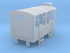 HOe-wagon04 - Crate of passenger wagon N°2 in Smooth Fine Detail Plastic