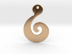 Maori Pendant - thin (2mm thick) in Polished Bronze