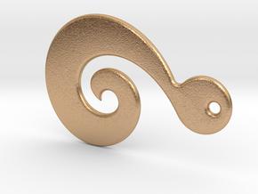 Maori Pendant - medium (3mm thick) in Natural Bronze