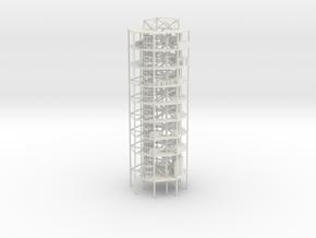 1/110 Scale Atlas Missile Silo Interior in White Natural Versatile Plastic
