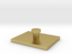 25x20mm vehicle rectangle hover base 1:300 in Natural Brass