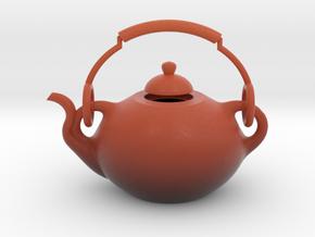 Decorative Teapot in Matte Full Color Sandstone