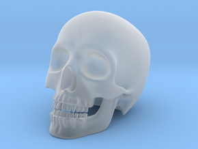 Human Skull (Medium Size-10cm Tall) in Smooth Fine Detail Plastic