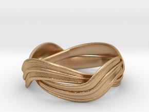 Turban Roll - Ring in Natural Bronze (Interlocking Parts)