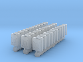 German Jerry can (30 pieces) scale 1/72 in Smooth Fine Detail Plastic