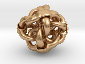 Octa Eyeo - 3D Linked object in Natural Bronze (Interlocking Parts)