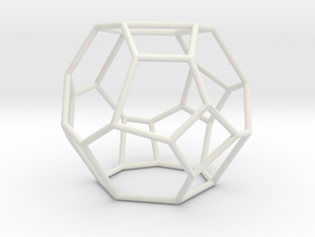 """Irregular"" polyhedron no. 4 in White Natural Versatile Plastic: Large"
