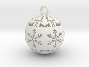 small christmas ball in White Natural Versatile Plastic