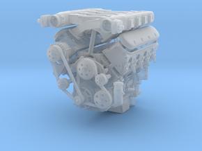LS3 1/25 full engine w/edelbrock xram in Smooth Fine Detail Plastic