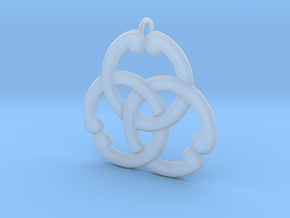 Matsuya: Interlocked Rings Pendant in Smoothest Fine Detail Plastic