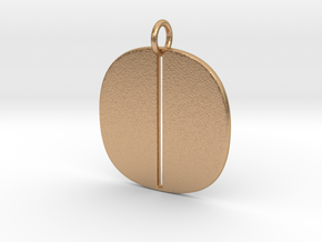 Numerical Digit Zero Pendant in Natural Bronze