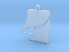 Numerical Digit Four Pendant in Smooth Fine Detail Plastic