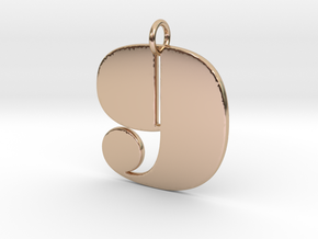 Numerical Digit Nine Pendant in 14k Rose Gold