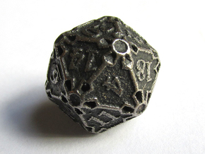 Premier d20 in Polished Bronzed Silver Steel