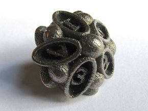 Spore Die10 in Polished Bronzed Silver Steel