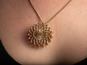 pendant in Natural Brass