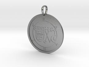 Bathin Medallion in Natural Silver